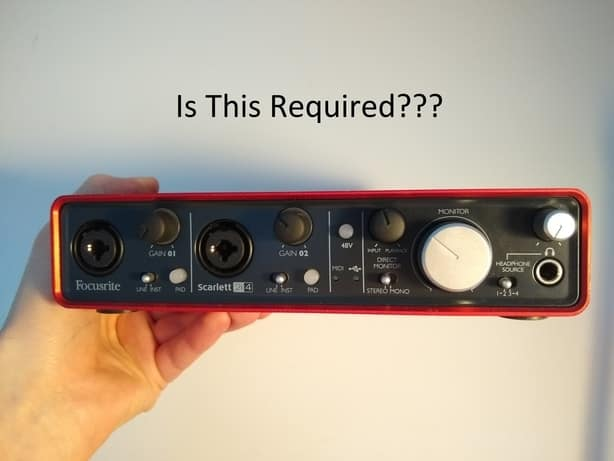 Do You Need an Audio Interface to Record Vocals, Guitar, Bass or Anything Else?