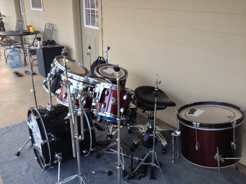 drum kit outside